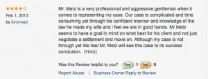 Review accident lawyer John Metz1