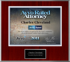 Charles Cleveland AVVO rated attorney 2011