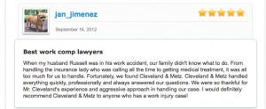 Charles Cleveland  Fontana work injury lawyer