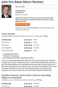 Lawyer Reviews AVVO John Metz