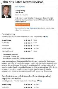 Lawyer Reviews AVVO John Metz