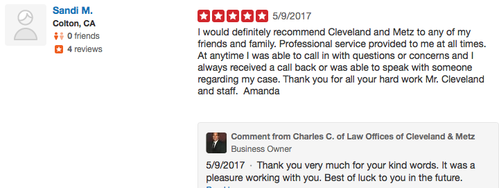 lawyer Workers Comp review yelp 12 – Law Offices Of