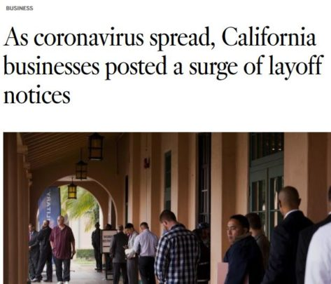 San Bernardino Fontana work injury layoff pandemic Covid 19 virus